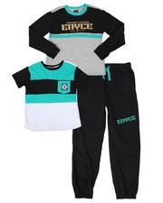 Sets - 3 Pc Color Block Tee, Long Sleeve Tee & Jogger Pants Set (8-18)-2579547
