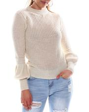 Sweaters - Long Puff Sleeve Sweater-2582533