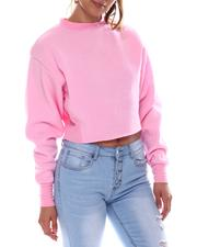 Sweatshirts - Basic Fleece Crop Top-2583058