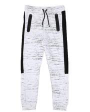 Bottoms - All Over Streak Print Fleece Joggers (8-18)-2570644