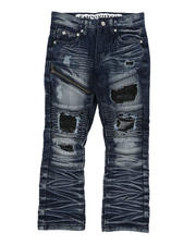 Arcade Styles - Destructed Moto Jeans (4-7)-2582404