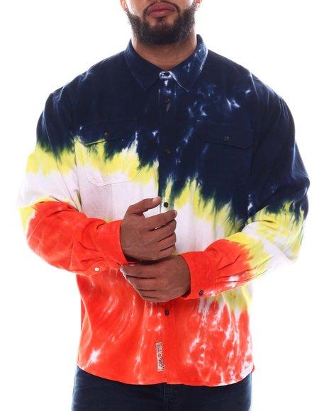 Hustle Gang - Full Drip Long Sleeve Woven Shirt (B&T)