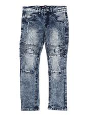 Boys - Stretch Rip & Repair Skinny Moto Jeans (8-18)-2583825