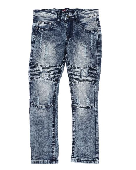 Phat Farm - Stretch Rip & Repair Skinny Moto Jeans (8-18)
