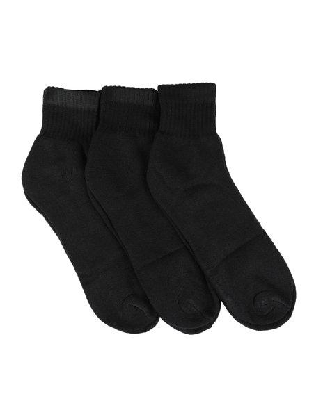 Buyers Picks - 3 Pk Cushion Cotton Quarter Socks