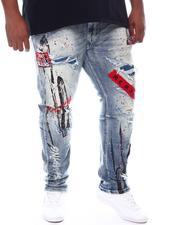 SMOKE RISE - Distressed Paint Splatter Denim Jeans (B&T)-2584664