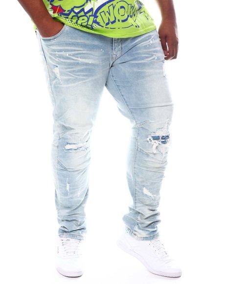SMOKE RISE - Distressed Denim Jeans (B&T)