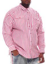 Buyers Picks - Striped Woven Long Sleeve Shirt (B&T)-2584744