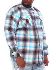 Buyers Picks - Plaid Woven Long Sleeve Shirt (B&T)-2584769