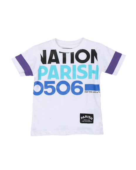 Parish - Nation Parish Block Sleeve Crew Neck T-Shirt (2T-4T)