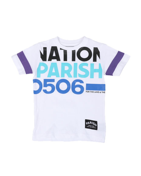 Parish - Nation Parish Block Sleeve Crew Neck T-Shirt (4-7)