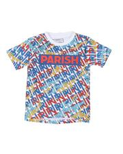 Boys - Parish Logo All Over Verbiage Print T-Shirt (4-7)-2585466