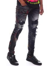 Jordan Craig - Sean Distressed Paint splatter PU patch Jean-2585145