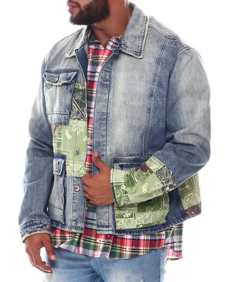 AKOO - Cornerstone Paisley Patch Denim Jacket (B&T)