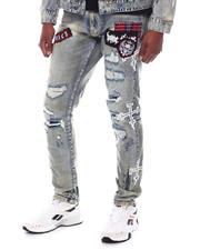 SMOKE RISE - Slim Fit Lightening Bolt Jean-2585239