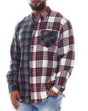 Men - Hidden Plaid Long Sleeve Woven Shirt (B&T)-2585306