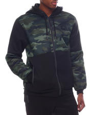 Akademiks - Colorblock Sherpa Zip Hoodie-2585335