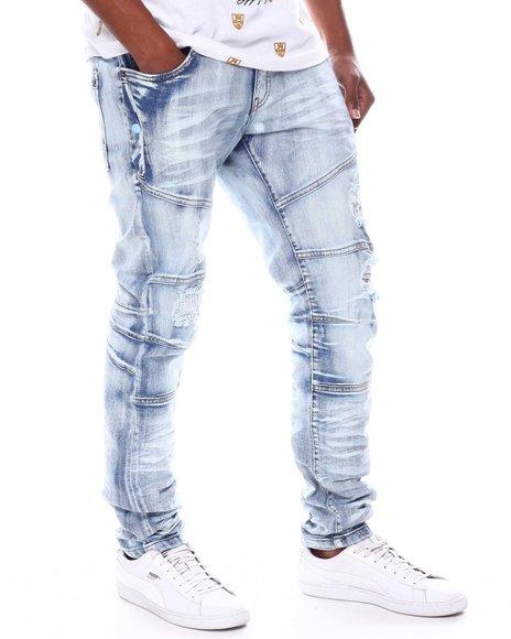 Copper Rivet - Distressed Side Pocket Jean
