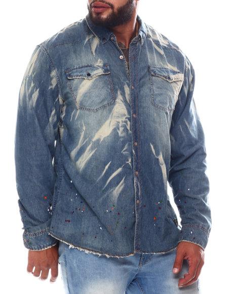 AKOO - Grace Long Sleeve Denim Woven Shirt (B&T)
