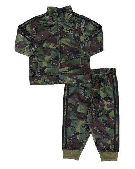 Adidas - 2 Pc Action Camo Track Jacket & Track Pants Set (3-24Mo)