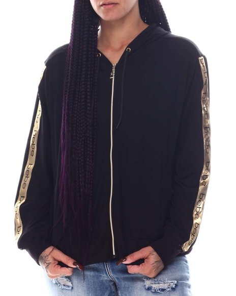 Bebe - Zip Front Jacket W/ Tape Trim