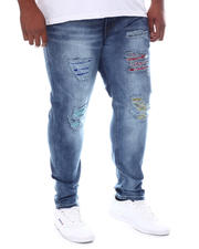 Jeans & Pants - Rip & Repair Color Patch Jeans (B&T)-2587042