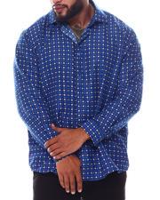 Men - Pattern Long Sleeve Woven Shirt (B&T)-2587038