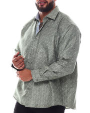 Men - Pattern Long Sleeve Woven Shirt (B&T)-2587061
