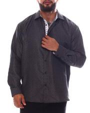 Men - Pattern Long Sleeve Woven Shirt (B&T)-2587078
