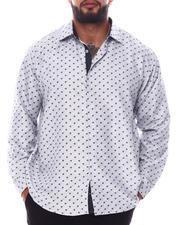 Men - Pattern Long Sleeve Woven Shirt (B&T)-2587095