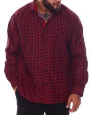 Men - Pattern Long Sleeve Woven Shirt (B&T)-2587108