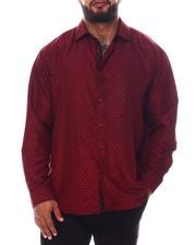 Men - Pattern Long Sleeve Woven Shirt (B&T)-2587119