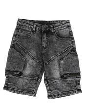 Phat Farm - Washed Stretch Cut & Sew Moto Denim Shorts (8-18)-2587189