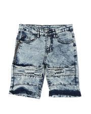 Phat Farm - Washed Rip & Repair Cut & Sew Denim Shorts (8-18)-2587196