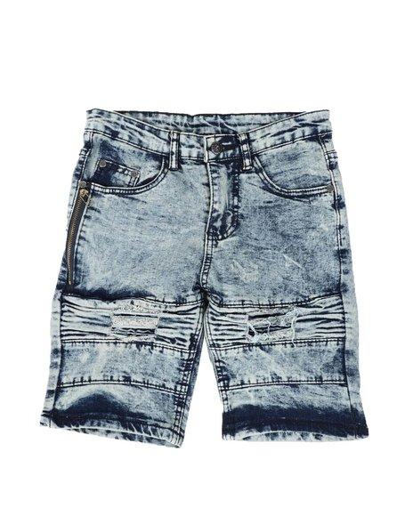Phat Farm - Washed Rip & Repair Cut & Sew Denim Shorts (8-18)
