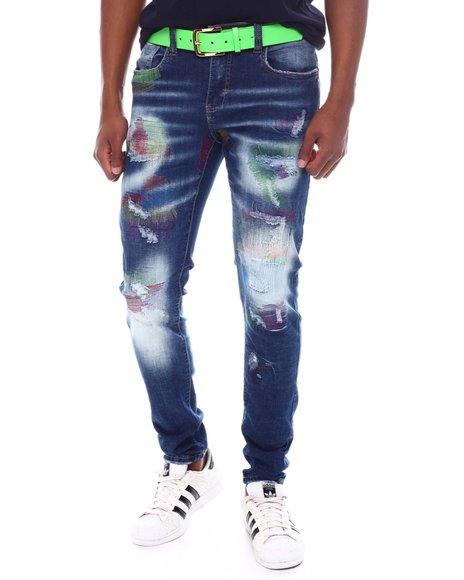 Industrial Indigo - Paint Distressed Jean
