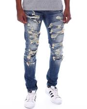 Men - Slim Fit Ripped Jeans-2588426