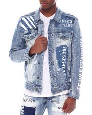 Outerwear - Barcode Patch Denim Jacket-2588514