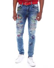 Industrial Indigo - Paint Distressed Jean-2588592