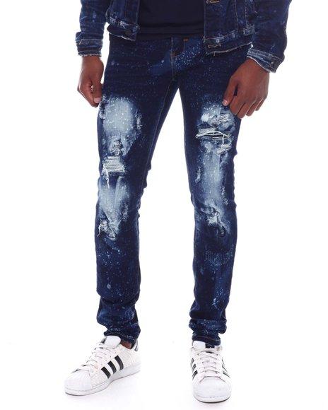 Industrial Indigo - Distressed Indigo Jeans