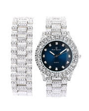 Men - Watch & Matching Bracelet Set-2586065
