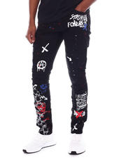 Men - Graphic Print Cargo Pant-2588394