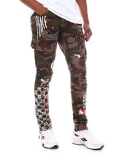 Men - Graphic Print Cargo Pant-2588478