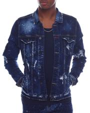 Outerwear - Distressed Bleached Denim Jacket-2588695