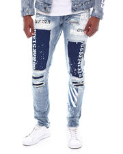 SMOKE RISE - Slim fit Barcode Patch Jean-2588505