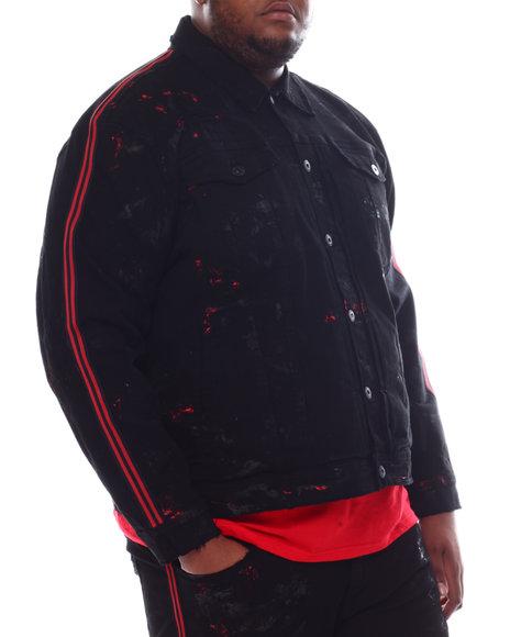 Jordan Craig - Paint Splatter Rhinestone Trim Denim Jacket (B&T)