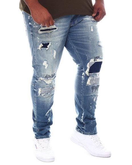 SMOKE RISE - Rip & Tear Distressed Denim Jeans (B&T)