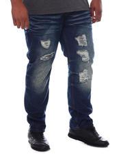 Big & Tall - Distressed Slim Straight Denim Jeans (B&T)-2589202