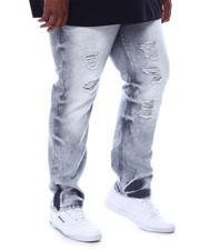 Big & Tall - Distressed Slim Straight Denim Jeans (B&T)-2589209