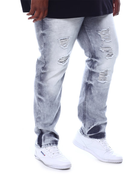 SWITCH - Distressed Slim Straight Denim Jeans (B&T)